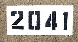 curb number painting