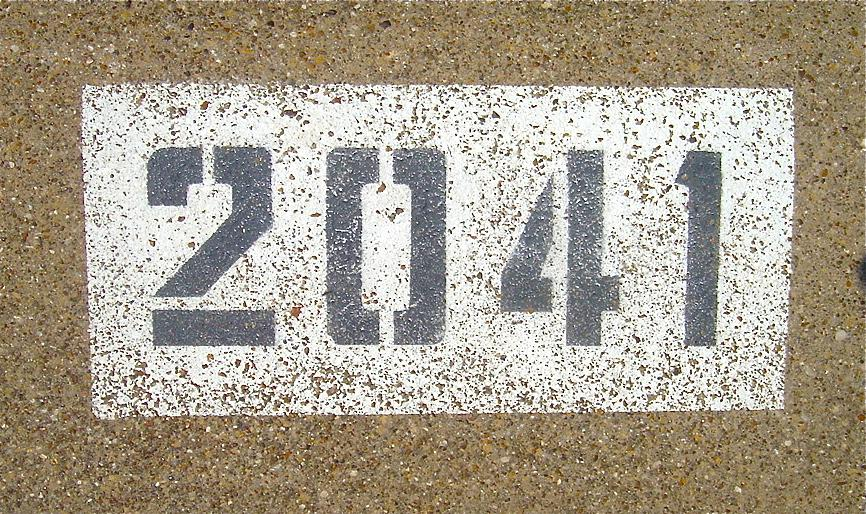 Painted House Numbers On Curb