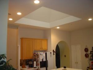 Open skylight before work begging for a skylight chandelier