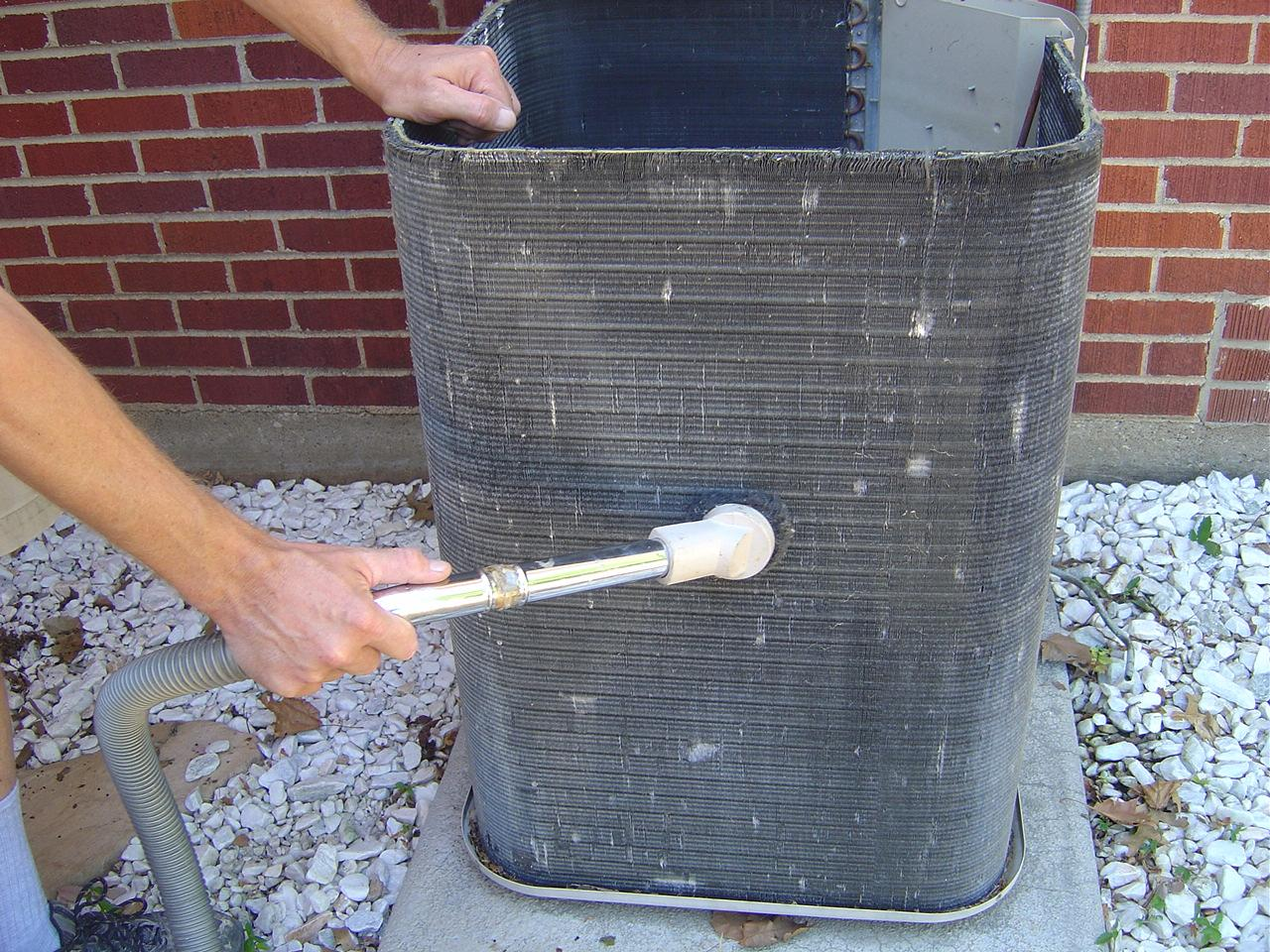 How to clean central air conditioning condenser coils for How much is a fan motor for ac unit