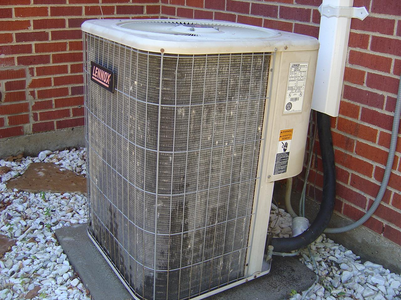 Air Condenser Coil : How to clean central air conditioning condenser coils