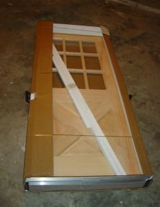brand new wood door still in the package
