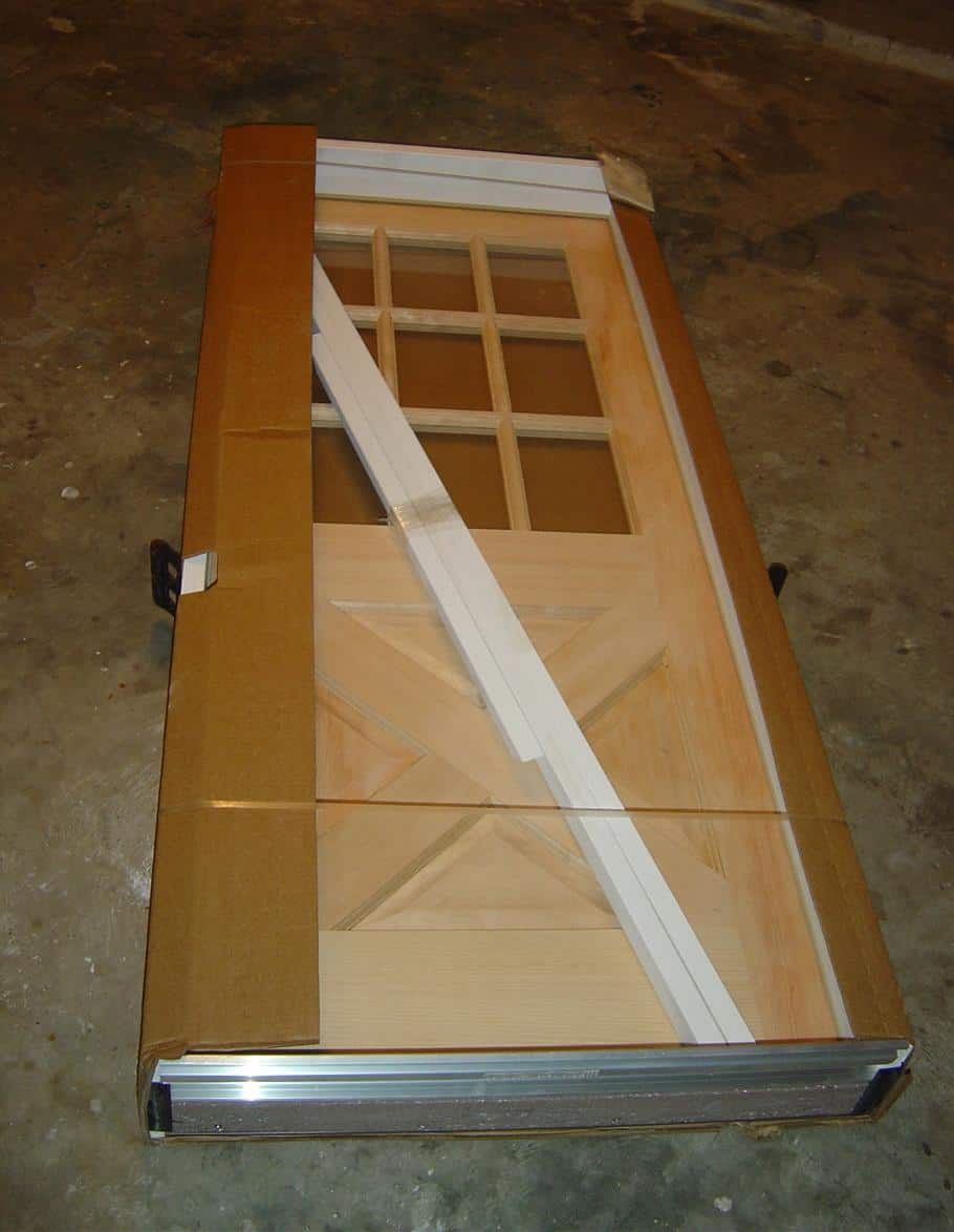 unfinished door the way it was delivered & How To Stain And Finish An Unfinished Wood Door
