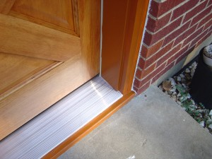 finshed threshold prehung door