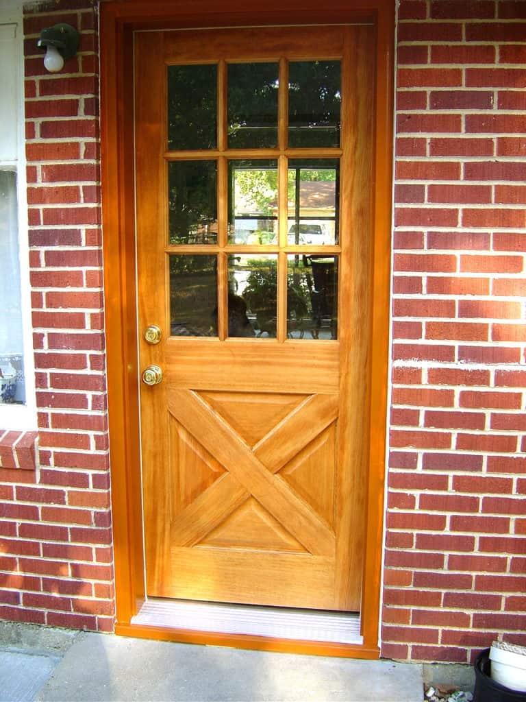 Exterior door installation installing a prehung door for Photos of entry doors
