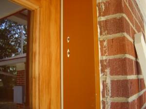 tap holes in my prehung door
