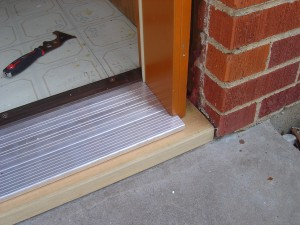 unfinshed threshold prehung door