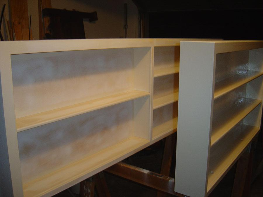 How To Build A Bookshelf On Top Of A Half Wall For Added