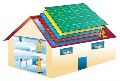 home solar panel illustration