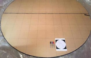 draw out a grid so you can transpose your star map onto the mdf