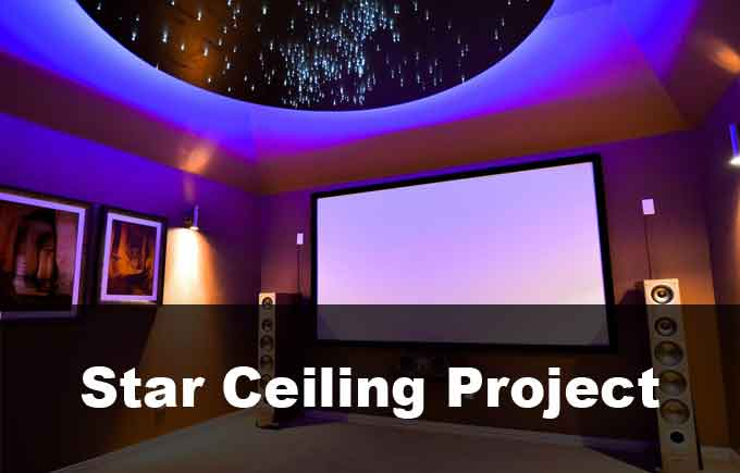 DIY Fiber Optic Star Ceiling Installation
