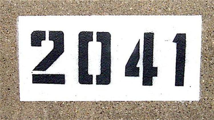 Upward facing curb number painting done in 2008