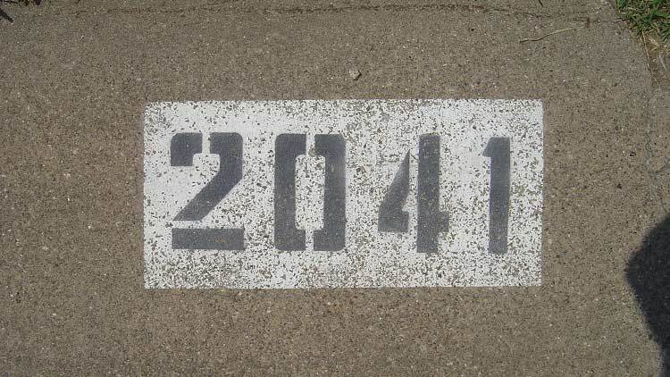 curb number painting after 4 years and 11 months