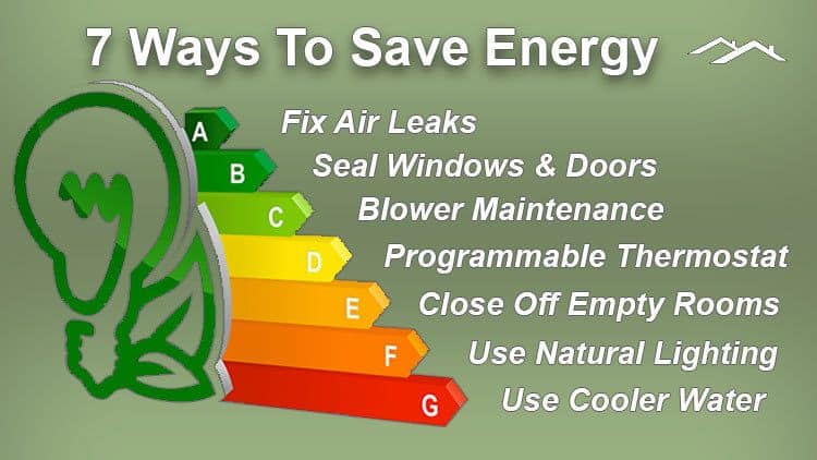 7 ways to save energy and money in your home
