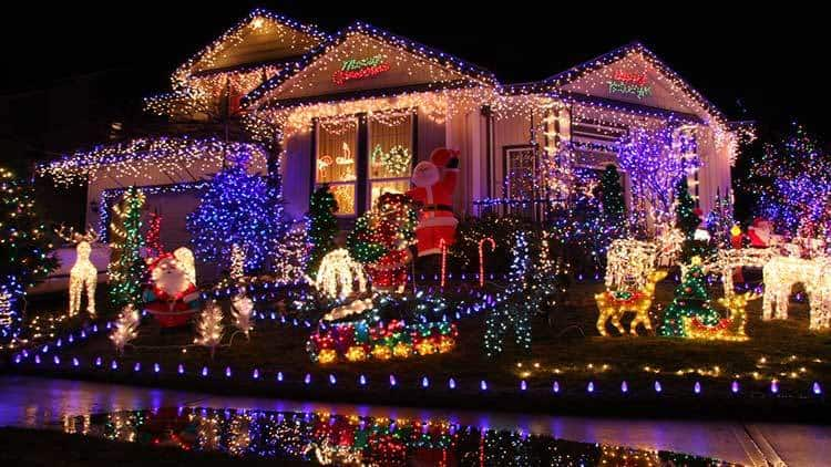 Christmas lighting should create a feeling