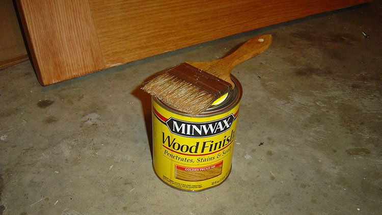 quality MinWax Wood Stain works well for most applications